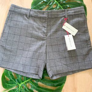 See by Chole NWT Grey Plaid Mid Suit Shorts 12